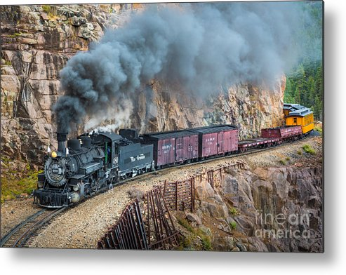 America Metal Print featuring the photograph Coming Around The Corner by Inge Johnsson