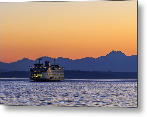 Ferry Metal Print featuring the photograph Coming Home by Scott Campbell