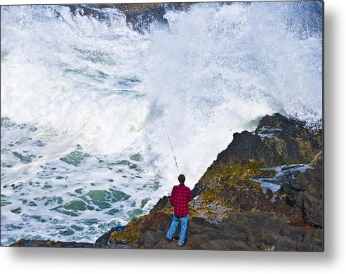 Surf Metal Print featuring the photograph Commitment by Larry Goss