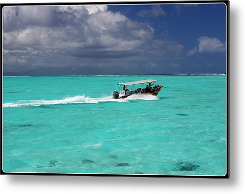 French Polynesia Metal Print featuring the photograph Commute Of Bora Bora by Nick Difi