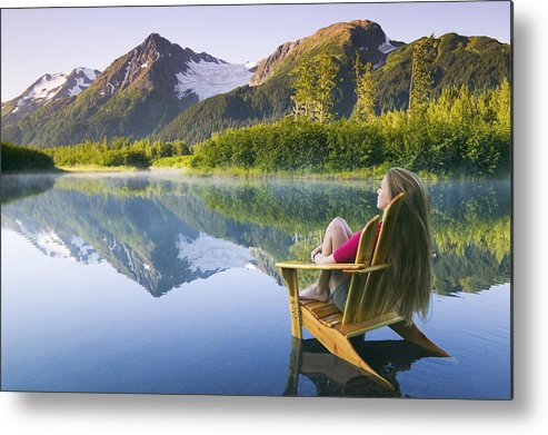 Chugach Mountains Metal Print featuring the photograph Contemplate by Michael DeYoung