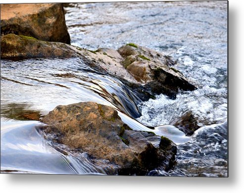 Converging Metal Print featuring the photograph Converging by Maria Urso