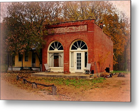 Cook Station Metal Print featuring the photograph Cook Station Bank by Marty Koch