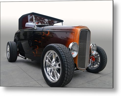 Ford Metal Print featuring the photograph Copper Flames by Bill Dutting