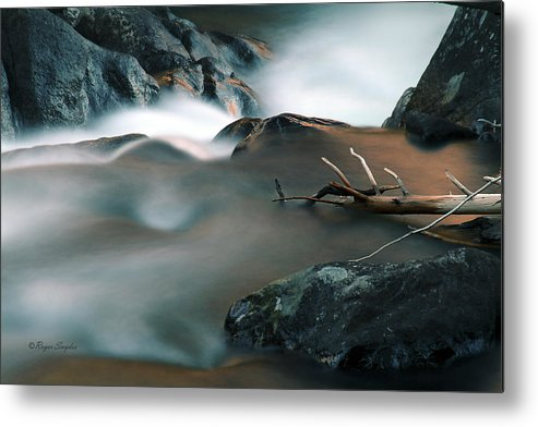 Unique Metal Print featuring the photograph Copper Stream 2 by Roger Snyder