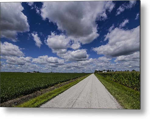 Landscape Metal Print featuring the photograph Country Clouds by Jake Thompson