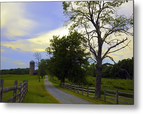 Farm Metal Print featuring the photograph Country Road by Madeline Ellis
