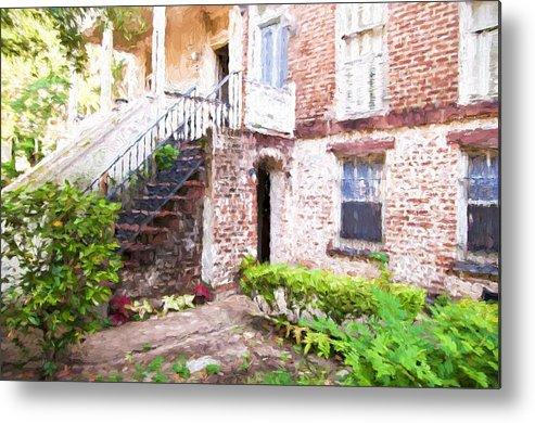 Savannah Metal Print featuring the photograph Courtyard by Bill Howard