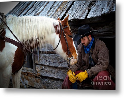 America Metal Print featuring the photograph Cowboy Blues by Inge Johnsson