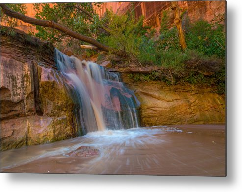 Waterfall Metal Print featuring the photograph Coyote Gulch Falls by Michael J Bauer