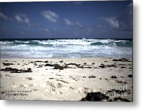 The Breathtaking Beach In Cozumel. Metal Print featuring the photograph Cozumel by Jennifer Pinckney
