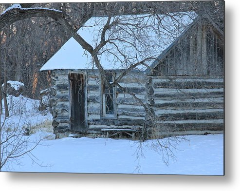Cabin Metal Print featuring the photograph Cozy Hideaway by Penny Meyers