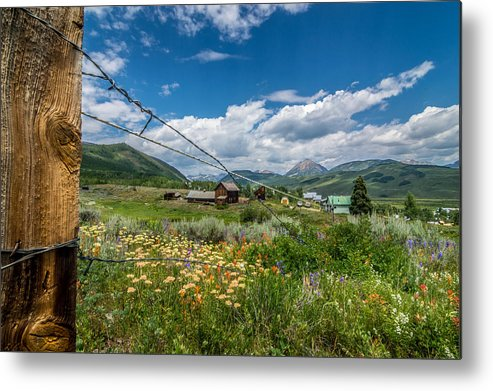 Landscape Metal Print featuring the photograph Crested Butte Farm House by Michael J Bauer