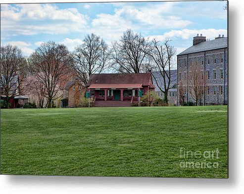 Haverford Metal Print featuring the photograph Cricket Field Haverford College by Kay Pickens