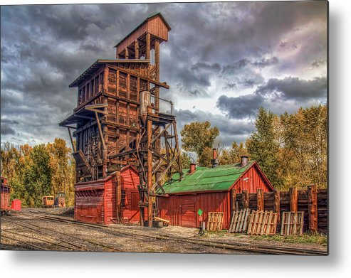 Coal Tipple Metal Print featuring the photograph Coal Tipple by Tom Weisbrook