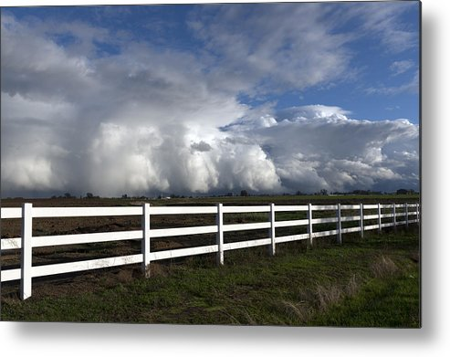 Cumulus Metal Print featuring the photograph Cumulus Clouds Over Stockton by Carol M Highsmith
