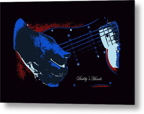 Guitar Metal Print featuring the photograph Daddy's Hands by Travis Truelove