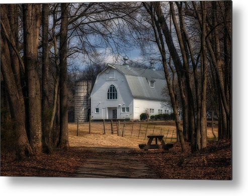 Dairy Barn Metal Print featuring the photograph Dairy Barn by Steve Reese