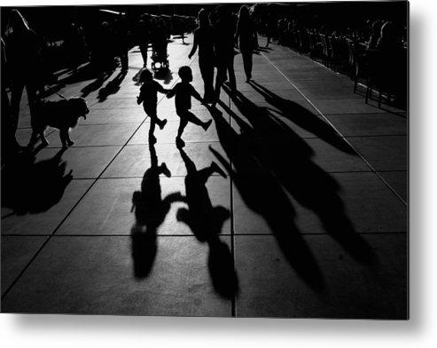 Shadow Metal Print featuring the photograph Dance by Vedrana Domazet