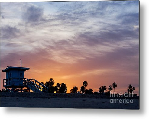 Venice Beach Metal Print featuring the photograph Dawn At Venice Beach by Art Block Collections