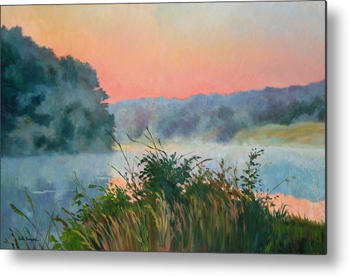 Impressionism Metal Print featuring the painting Dawn Reflection by Keith Burgess