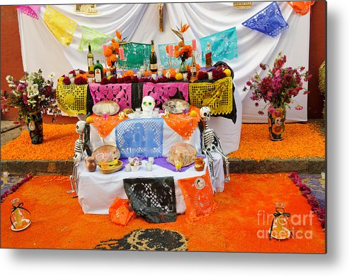 Travel Metal Print featuring the photograph Day Of The Dead Altar, Mexico by John Shaw
