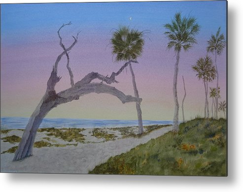 Edisto Island Metal Print featuring the painting Daybreak At Edisto by Joel Deutsch