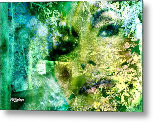 Deep Woods Wanderings Metal Print featuring the digital art Deep Woods Wanderings by Seth Weaver