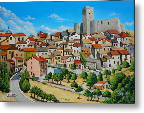 Deliceto Metal Print featuring the painting Deliceto Italy by Melinda Saminski