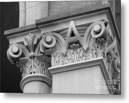 Depauw University Metal Print featuring the photograph Depauw University East College Detail by University Icons