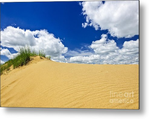 Sand Metal Print featuring the photograph Desert Landscape In Manitoba by Elena Elisseeva