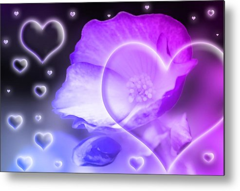 Abstract Metal Print featuring the photograph Digital-art Sensuality I by Melanie Viola