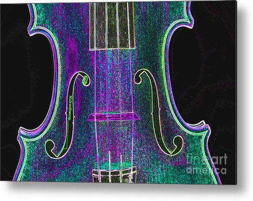 Violin Metal Print featuring the photograph Digital Photograph Of A Viola Violin Middle 3374.03 by M K Miller