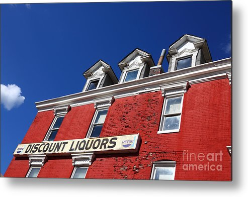 Discount Metal Print featuring the photograph Discount Liquor Store by James Brunker