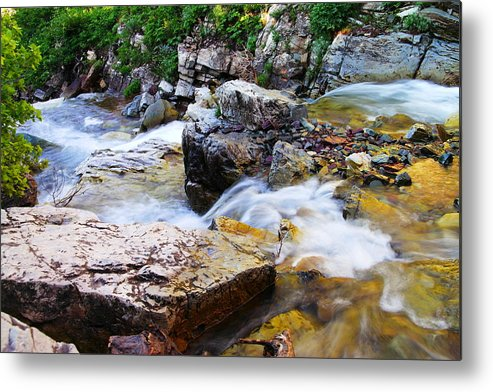 Rocks Metal Print featuring the photograph Diving Off The Ledge by Jeff Swan