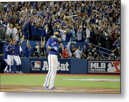 People Metal Print featuring the photograph Division Series - Texas Rangers V by Tom Szczerbowski