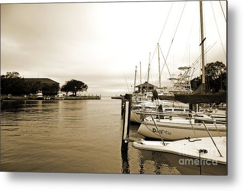 Landscape Metal Print featuring the photograph Docked by Earl Johnson