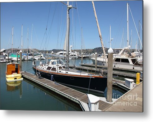 Sausalito Metal Print featuring the photograph Docks At Sausalito California 5d22688 by Wingsdomain Art and Photography