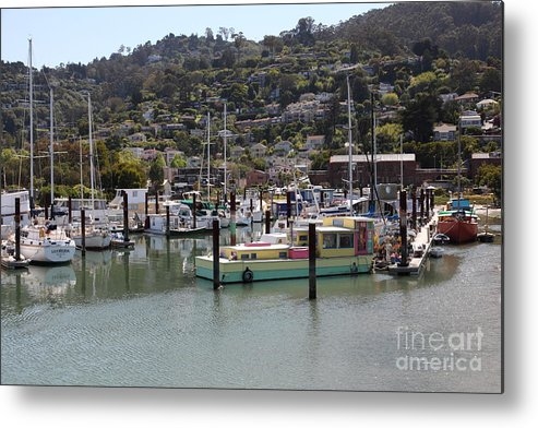 Sausalito Metal Print featuring the photograph Docks At Sausalito California 5d22697 by Wingsdomain Art and Photography
