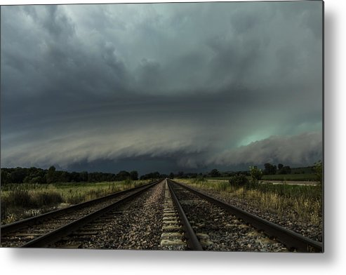 Supercell Metal Print featuring the photograph Down The Tracks by Jake Thompson