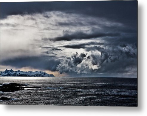 Metal Print featuring the photograph Dramatic Clouds by Frank Olsen