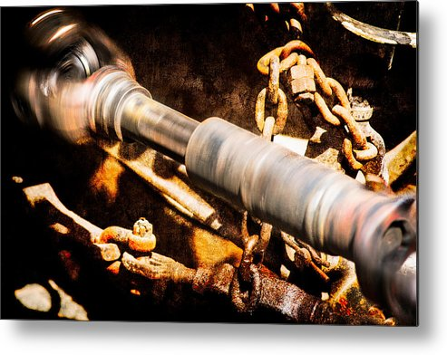 Shaft Metal Print featuring the photograph Drive Shaft - 1 by Alexander Senin