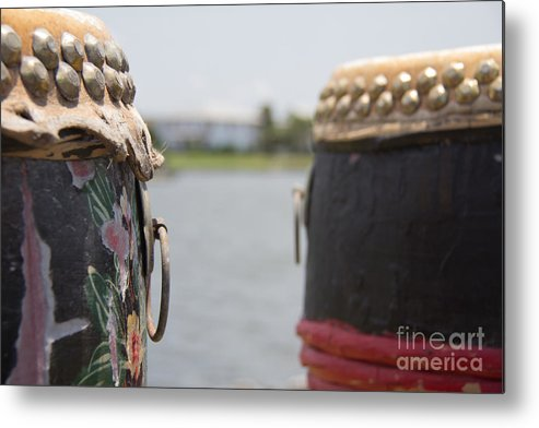 Dragon Boating Metal Print featuring the photograph Drums I by Conni Walker