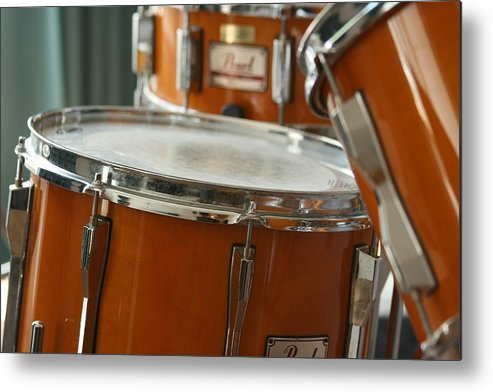 Drums Metal Print featuring the photograph Drums by Tilen Hrovatic
