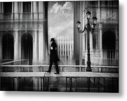 Lantern Metal Print featuring the photograph Dry Footed Walk by Roswitha Schleicher-schwarz