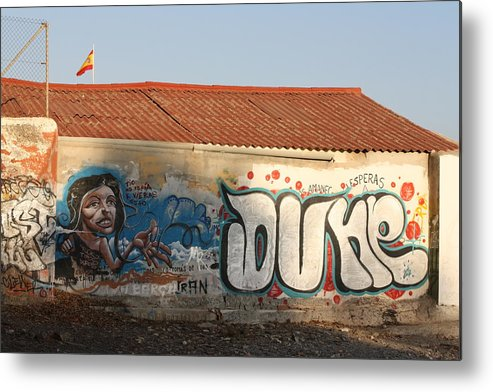 Grafity Metal Print featuring the photograph Dune Boathouse by Jan Katuin