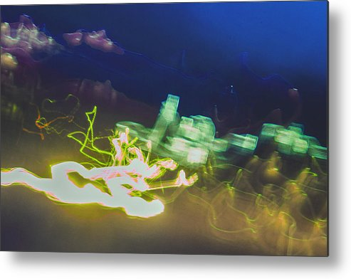 Abstract Metal Print featuring the photograph Dusk by Jason Chewning