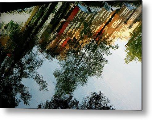 Kg Metal Print featuring the photograph Dutch Canal Reflection by KG Thienemann