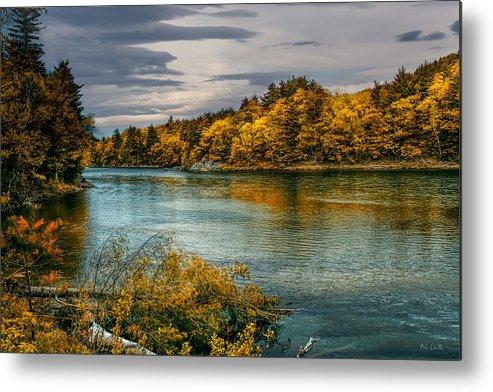 Androscoggin River Metal Print featuring the photograph Early Autumn Along The Androscoggin River by Bob Orsillo