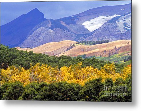 Rocky Mountains Metal Print featuring the photograph East Glacier Fall by Randy Beacham